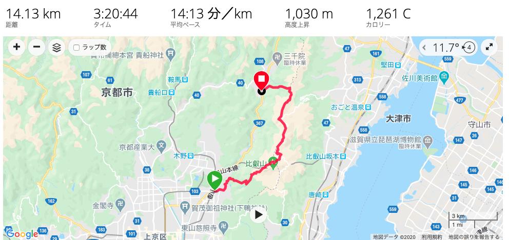 京都一周トレイル 修学院〜大原