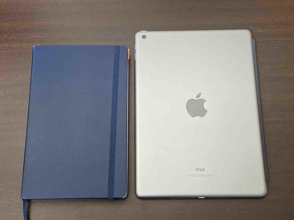 モレスキンノートとiPad9.7 第6世代