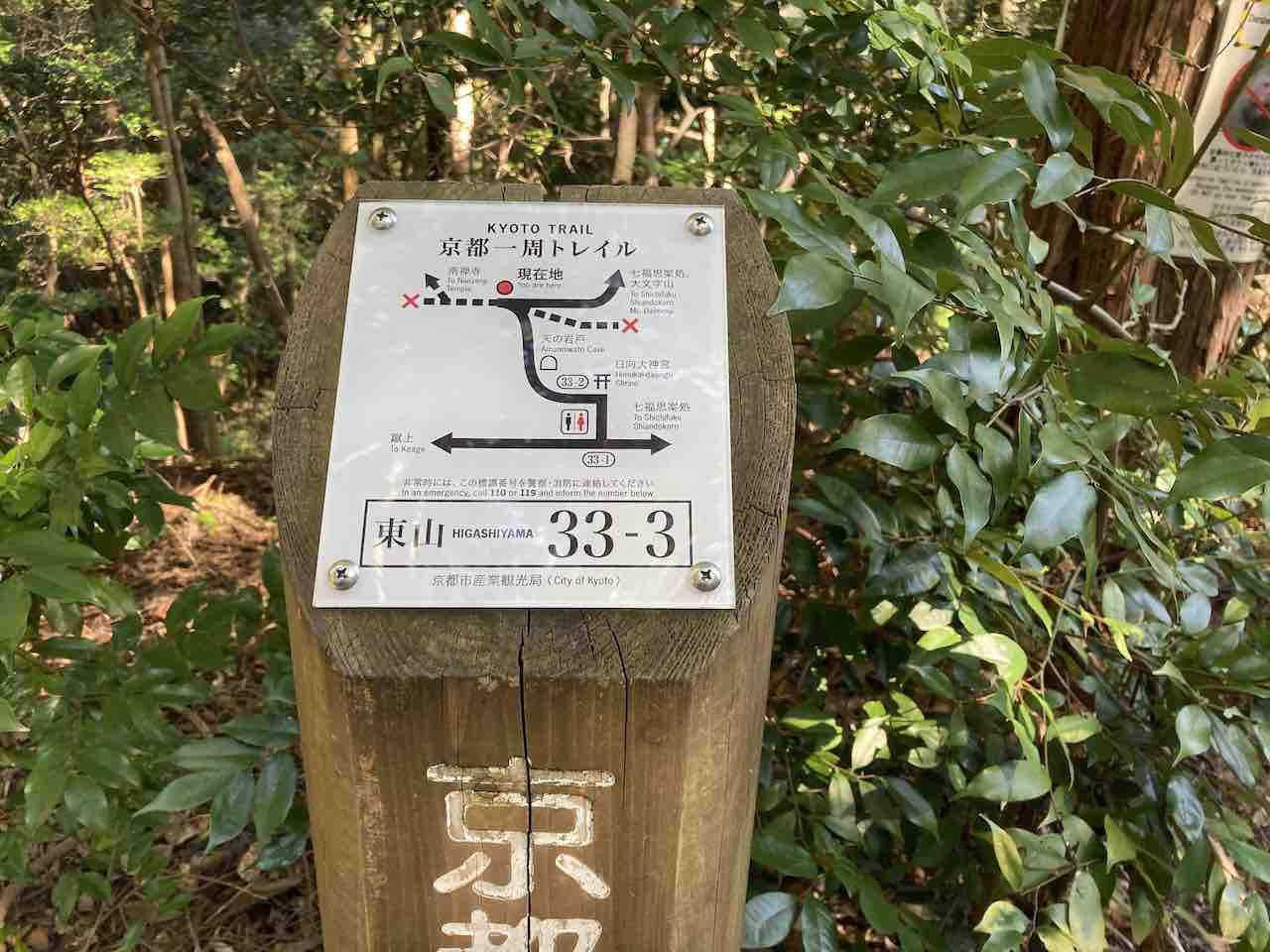 京都一周トレイル 大文字エリア